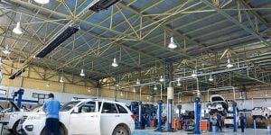 گرمایش تعمیرگاه های خودرو با استفاده از سیستم گرماتاب